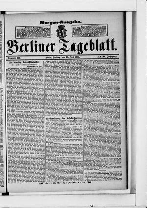 Berliner Tageblatt und Handels-Zeitung vom 22.06.1894