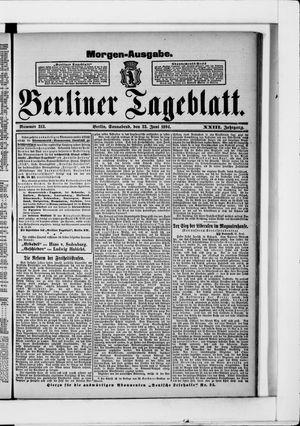 Berliner Tageblatt und Handels-Zeitung vom 23.06.1894
