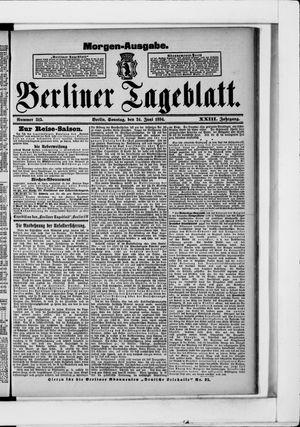 Berliner Tageblatt und Handels-Zeitung vom 24.06.1894