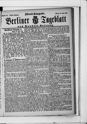 Berliner Tageblatt und Handels-Zeitung vom 25.06.1894