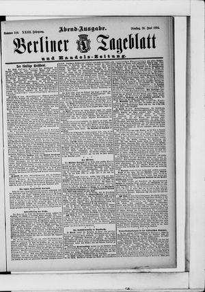 Berliner Tageblatt und Handels-Zeitung vom 26.06.1894