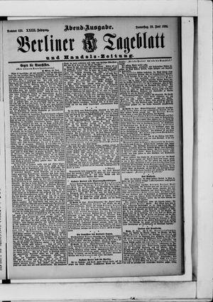 Berliner Tageblatt und Handels-Zeitung vom 28.06.1894