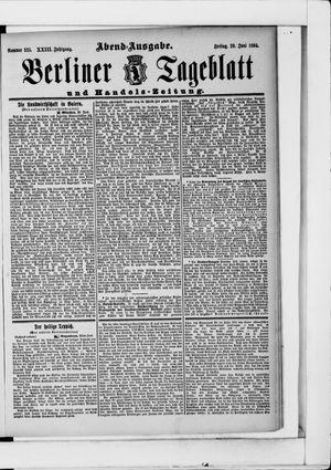 Berliner Tageblatt und Handels-Zeitung vom 29.06.1894