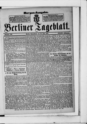 Berliner Tageblatt und Handels-Zeitung vom 30.06.1894