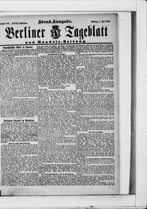 Berliner Tageblatt und Handels-Zeitung vom 02.07.1894