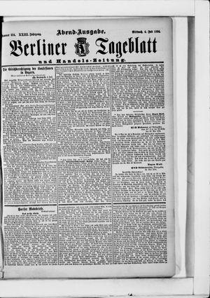 Berliner Tageblatt und Handels-Zeitung vom 04.07.1894