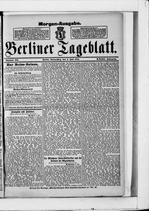 Berliner Tageblatt und Handels-Zeitung vom 05.07.1894