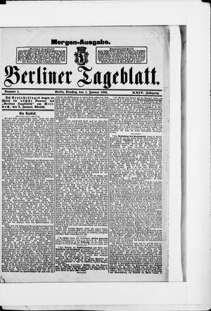 Berliner Tageblatt und Handels-Zeitung vom 01.01.1895