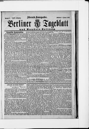 Berliner Tageblatt und Handels-Zeitung vom 02.01.1895