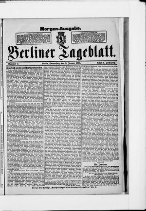 Berliner Tageblatt und Handels-Zeitung vom 03.01.1895