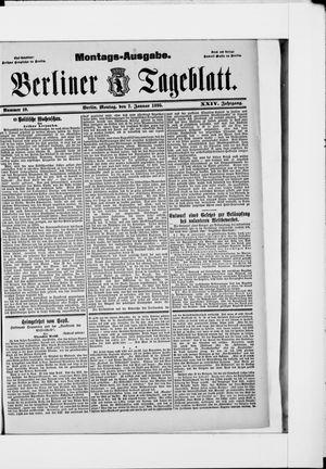 Berliner Tageblatt und Handels-Zeitung vom 07.01.1895