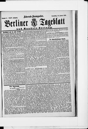 Berliner Tageblatt und Handels-Zeitung vom 10.01.1895