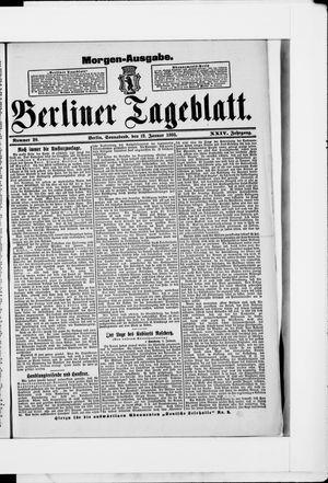 Berliner Tageblatt und Handels-Zeitung vom 12.01.1895