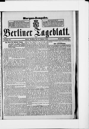 Berliner Tageblatt und Handels-Zeitung vom 15.01.1895