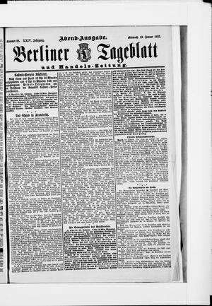 Berliner Tageblatt und Handels-Zeitung vom 16.01.1895