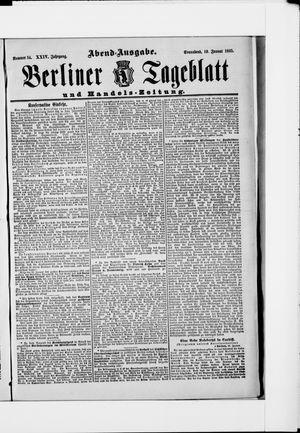 Berliner Tageblatt und Handels-Zeitung vom 19.01.1895