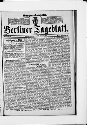 Berliner Tageblatt und Handels-Zeitung vom 20.01.1895