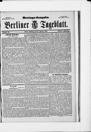 Berliner Tageblatt und Handels-Zeitung vom 21.01.1895