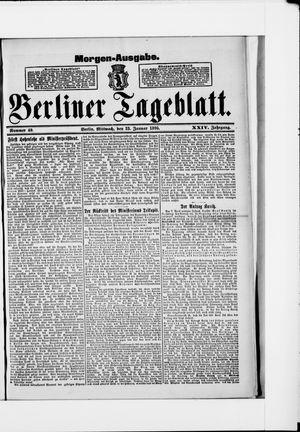Berliner Tageblatt und Handels-Zeitung on Jan 23, 1895