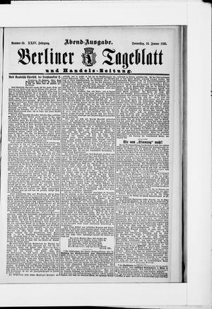 Berliner Tageblatt und Handels-Zeitung vom 24.01.1895