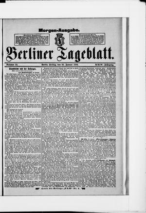 Berliner Tageblatt und Handels-Zeitung vom 25.01.1895