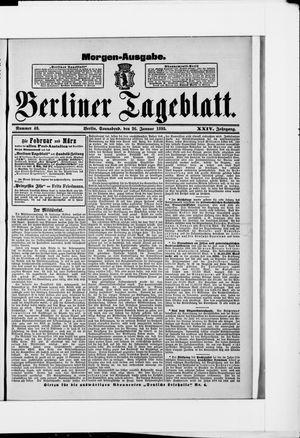 Berliner Tageblatt und Handels-Zeitung vom 26.01.1895