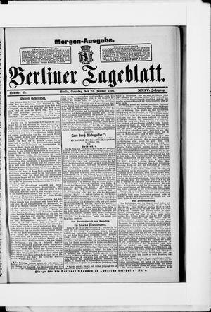 Berliner Tageblatt und Handels-Zeitung vom 27.01.1895