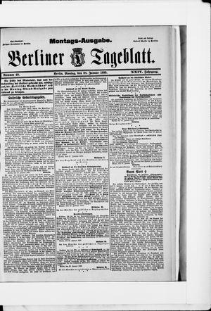 Berliner Tageblatt und Handels-Zeitung vom 28.01.1895