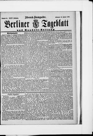 Berliner Tageblatt und Handels-Zeitung vom 30.01.1895