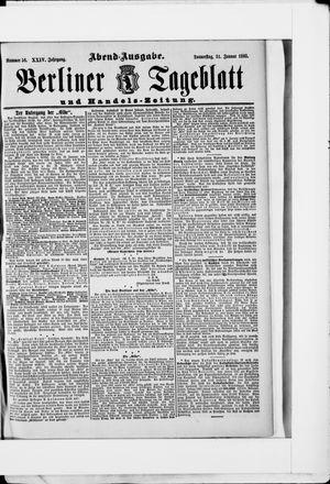 Berliner Tageblatt und Handels-Zeitung vom 31.01.1895