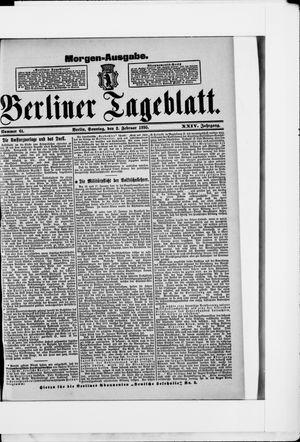 Berliner Tageblatt und Handels-Zeitung vom 03.02.1895