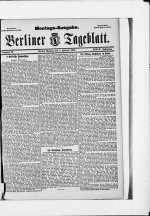 Berliner Tageblatt und Handels-Zeitung vom 04.02.1895