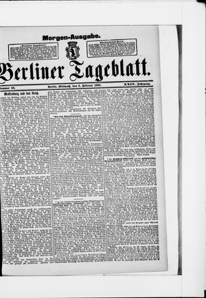 Berliner Tageblatt und Handels-Zeitung vom 06.02.1895