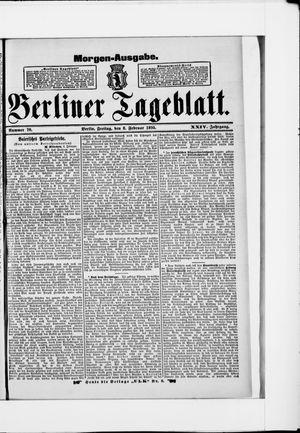 Berliner Tageblatt und Handels-Zeitung vom 08.02.1895