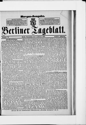 Berliner Tageblatt und Handels-Zeitung vom 09.02.1895