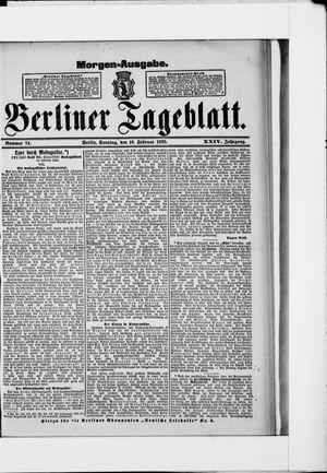 Berliner Tageblatt und Handels-Zeitung vom 10.02.1895