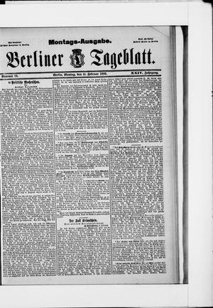 Berliner Tageblatt und Handels-Zeitung vom 11.02.1895