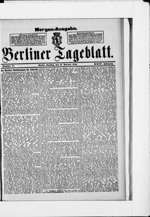 Berliner Tageblatt und Handels-Zeitung vom 12.02.1895
