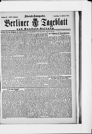 Berliner Tageblatt und Handels-Zeitung vom 14.02.1895