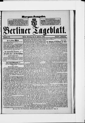 Berliner Tageblatt und Handels-Zeitung vom 17.02.1895