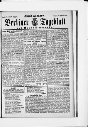 Berliner Tageblatt und Handels-Zeitung vom 19.02.1895