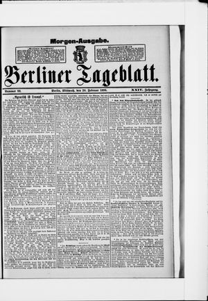 Berliner Tageblatt und Handels-Zeitung vom 20.02.1895