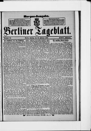 Berliner Tageblatt und Handels-Zeitung vom 22.02.1895