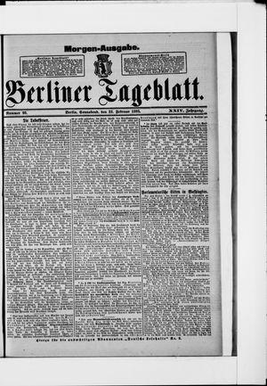 Berliner Tageblatt und Handels-Zeitung vom 23.02.1895