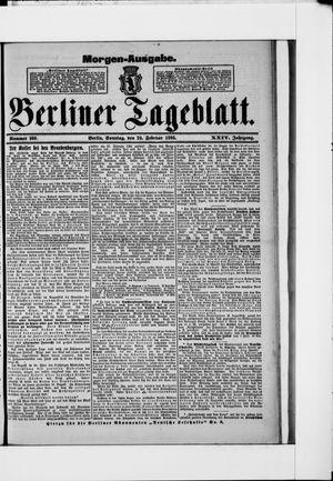 Berliner Tageblatt und Handels-Zeitung on Feb 24, 1895