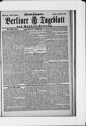 Berliner Tageblatt und Handels-Zeitung vom 25.02.1895