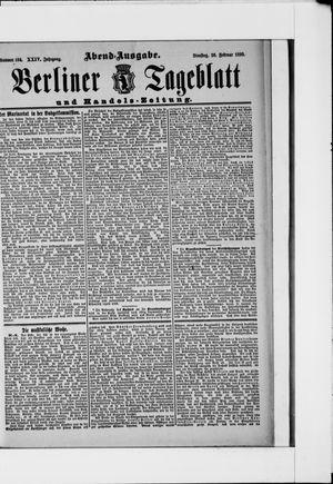 Berliner Tageblatt und Handels-Zeitung vom 26.02.1895