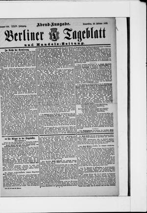 Berliner Tageblatt und Handels-Zeitung vom 28.02.1895