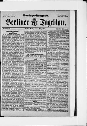 Berliner Tageblatt und Handels-Zeitung vom 04.03.1895