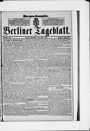 Berliner Tageblatt und Handels-Zeitung vom 06.03.1895